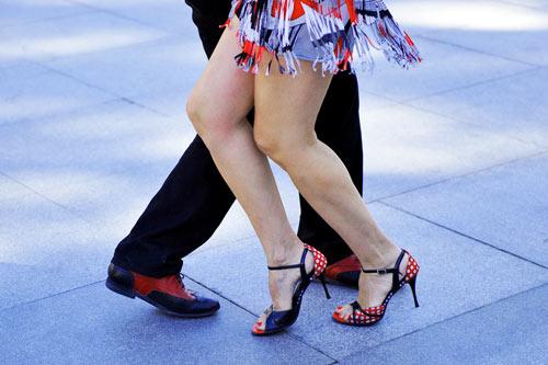 Köpersprache Tango tanzen